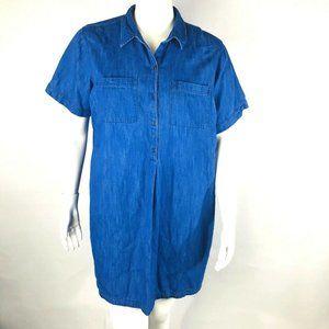 Old Navy Chambray Tunic Shirt Dress Size XXL Blue